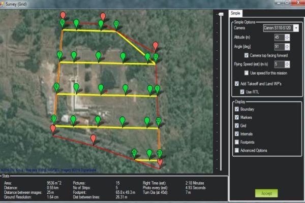 Cara Mengambil Foto dengan Drone jalur terbang