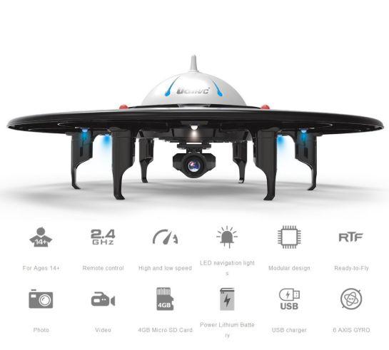 Review Drone DBPower U845 UFO terbaru